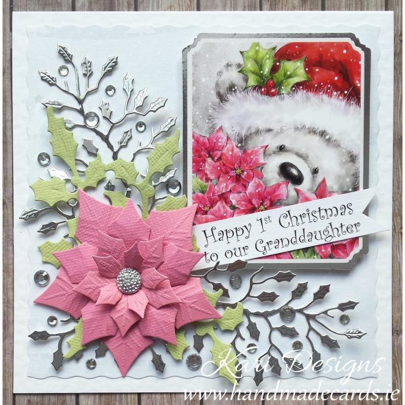 Beautiful Christmas Card, Handmade By Kari Designs Www