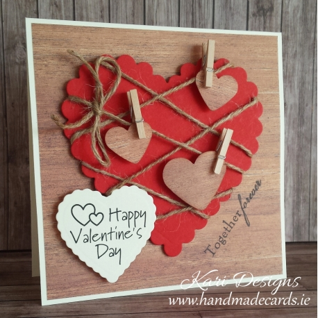 Beautiful Valentines Day Card for him handmade by Kari Designs – Beautiful Handmade Valentine Cards