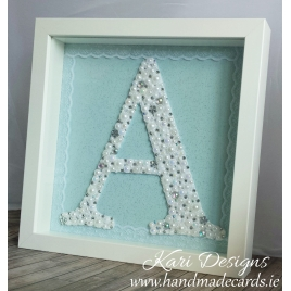"Handmade letter ""A"" in a frame - LE001"