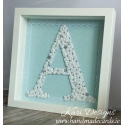 "Handmade letter ""A"" in frame - LE001"