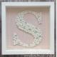 """Handmade letter """"S"""" in frame - LE002"""