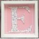 """Handmade letter """"E"""" in frame - LE003"""
