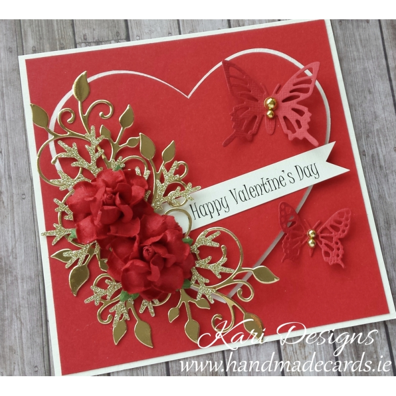 Beautiful Valentine S Day Card Handmade By Kari Designs Www