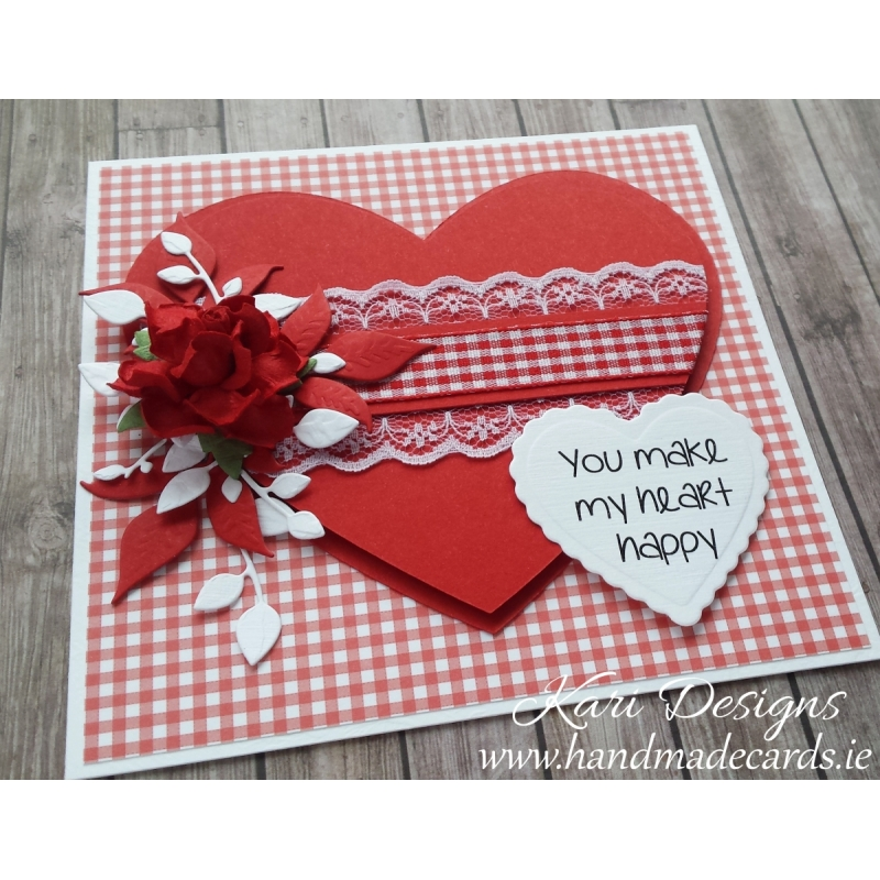 Beautiful Valentines Day Card handmade by Kari Designs – Beautiful Valentines Day Cards