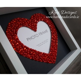 Handmade Photo Frame with beautiful red heart - PF001