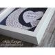 Handmade Photo Frame with shiny MOON - PF002
