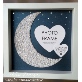 Handmade Photo Frame with shiny MOON - PF002