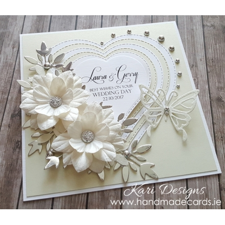 Handmade Wedding Card We005