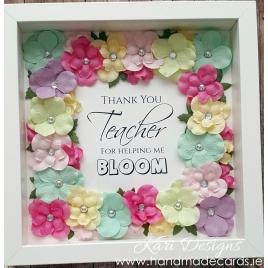 Colourful flower frame - FF025