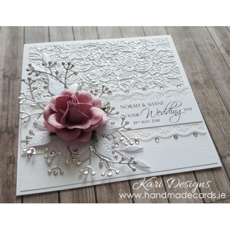 Handmade Wedding Card - WE013
