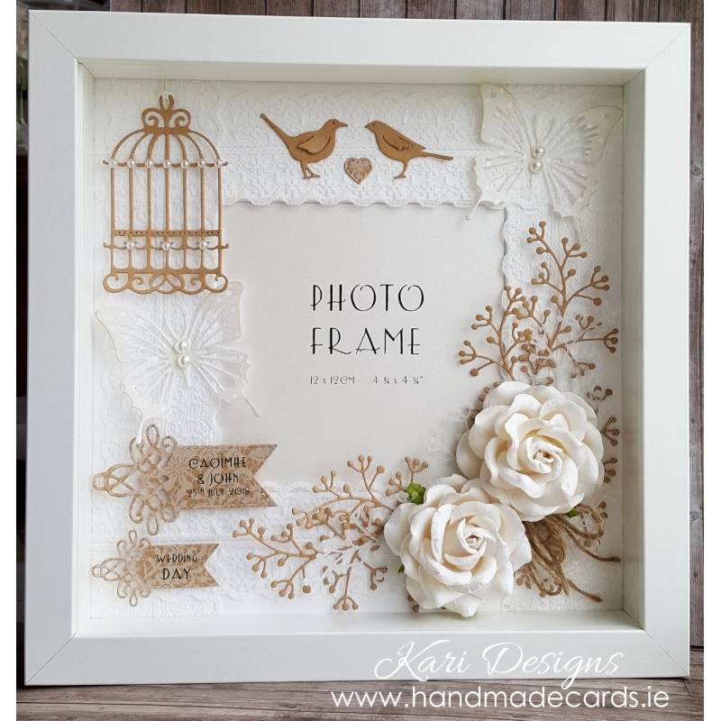 Wedding Photo Frames.Handmade Vintage Style Wedding Frame Vf003