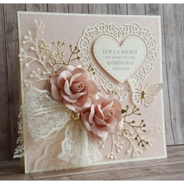 Handmade Wedding Card - WE014