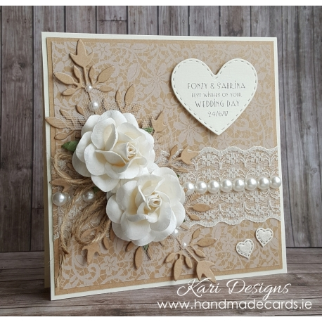Handmade Wedding Card - WE009
